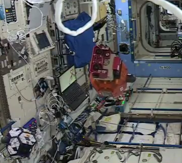 Self-learning robot on the International Space Station